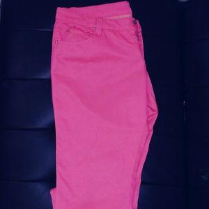 Pants - Hot pink skinny pants